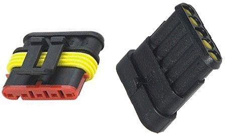 Konektor se zdířkou DJ7051-1.5-11+DJ7051-1.5-21 5P vodotěsný