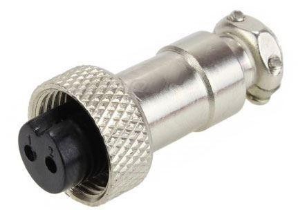 GX12 zdířka 2p na kabel