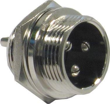 MIC konektor se závitem 3p panelový