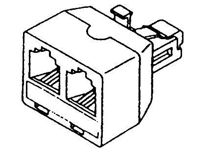 Telefonní rozbočení 6P6C 1x male/2x female