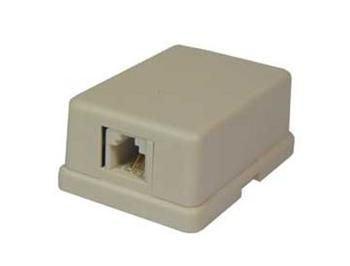 Telefonní zásuvka na zeď 1x RJ11 (6P4C)
