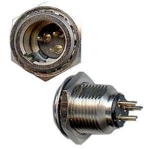 XLR mini konektor 3P na panel