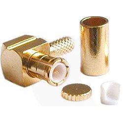 MCX konektor úhlový lisovací na koax 3mm (RG174)