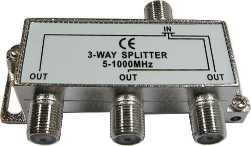 Rozbočovač IN/3xOUT 5-1000 MHz s F konektory