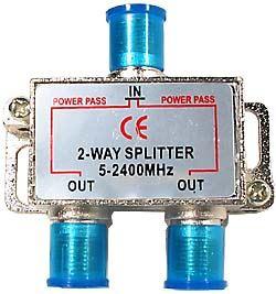Rozbočovač IN/2x OUT 5-2400 MHz s F konektory