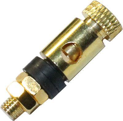 Svorka kovová zlacená,černý proužek, závit 16mm