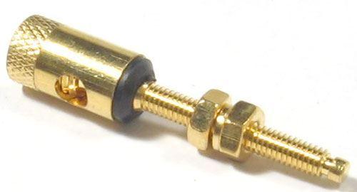 Svorka kovová zlacená černá, závit 26mm