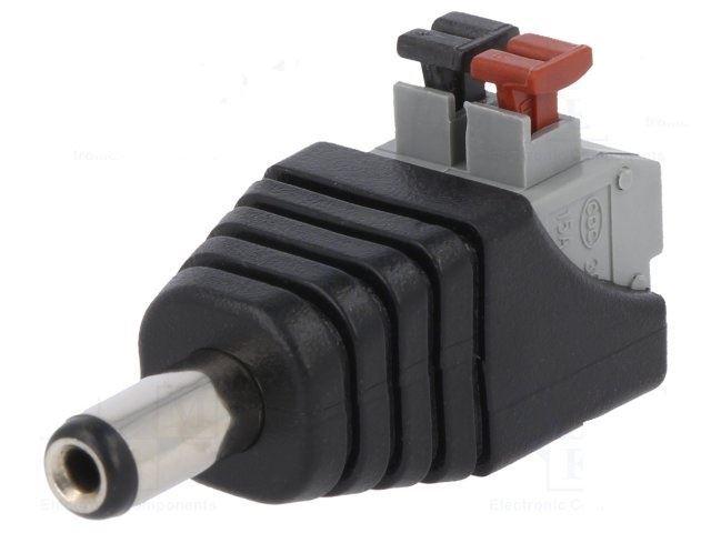Napájecí DC konektor 2,1mm s pružinovou svorkou