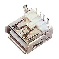USB A zdířka do DPS, úhlová