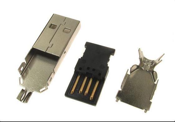 USB konektor TYP A kabelový