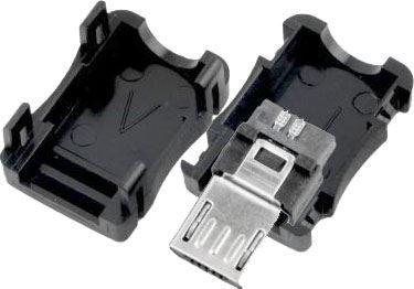 USB micro konektor kabelový s krytkou