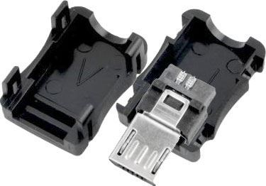 USB micro B konektor kabelový s krytkou