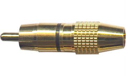 CINCH konektor kov.zlac.pro kabel 6-6mm,černý prou
