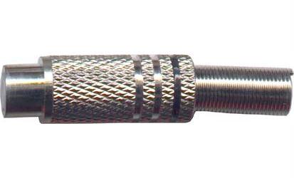 CINCH zdířka kabelová kovová,černý proužek