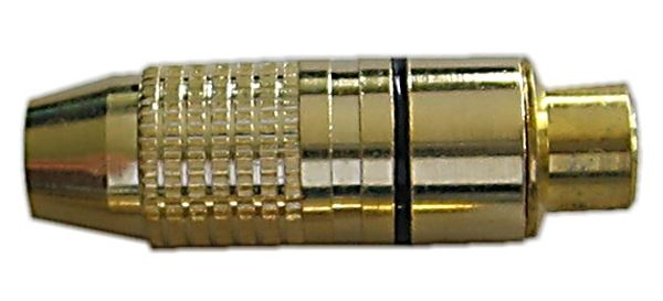 CINCH zdířka zlacená,kabel 4-5mm,černý proužek