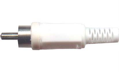 CINCH konektor plast bílý