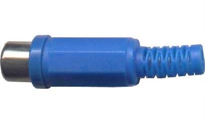 CINCH zdířka plastová modrá na kabel