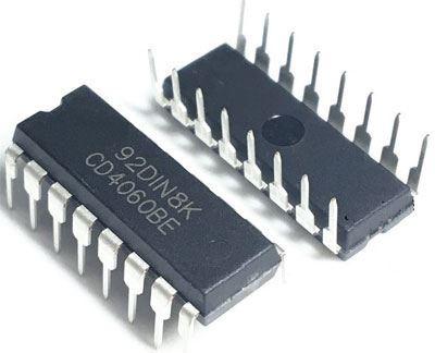 4060 12bit.dvojkový čítač+oscilátor DIP16 /CD4060/