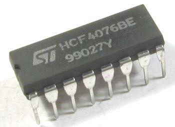 4076 - 4x registr D, DIL16 /HCF4076BE/