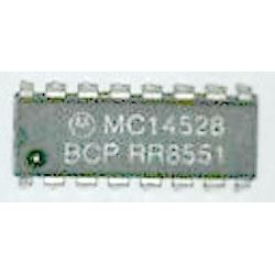 4528 - 2x monostabilní KO s nulováním, DIP16, /MC14528BCP/