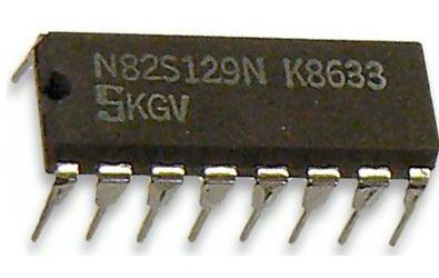 N82S129N - paměť PROM 256x4bit , DIP16 /Signetics/