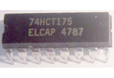 74HCT175, 4x klopný obvod D, DIL16 /74175/