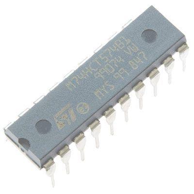 74HCT574 - 8x D-type flip-flop, DIL20
