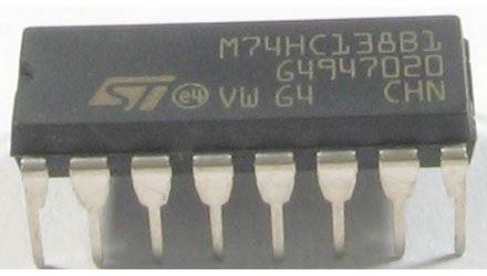 74AHC138, dekodér 1 z 8, demultiplexer DIL16 /M74HC138,74138/