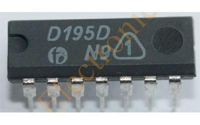 7495 - čtyřbitový posuvný registr /D195D/
