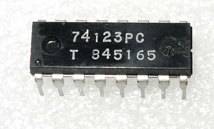 74123 - 2x monost.klopný obvod, DIL16 /UCY74123/