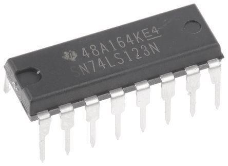 74LS123 2x monost.klopný obvod, DIL16 /SN74LS123N/ /74123/