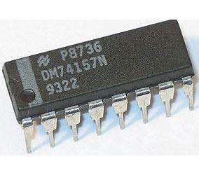 74157 - 2x 2vst.selektor dat/multiplexer DIP16 /SN74157N/