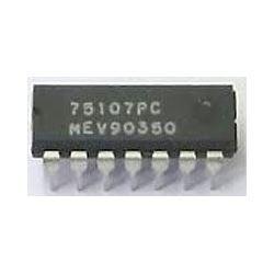 75107 - 2x linkový zesilovač, DIP14 /75107PC/