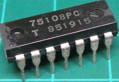 75108 - 2x linkový zesilovač s otevřeným kolektorem, DIP14 /75108PC/