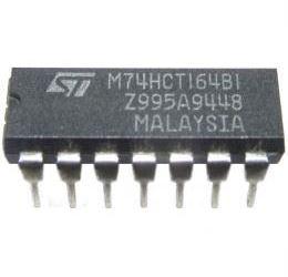 74HC164 8-bit posuvný registr s nulováním, DIL14