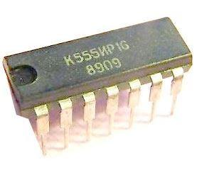 K555IR16 - 4.bit.posuvný registr, DIL14 /74LS295/ 74295