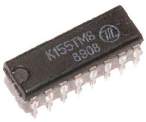 K155TM8 4x klopný obvod D, DIL16 /74175/