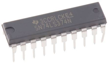 74LS374 - 8x klopný obvod D s nulováním, DIL20 /SN74LS374N/