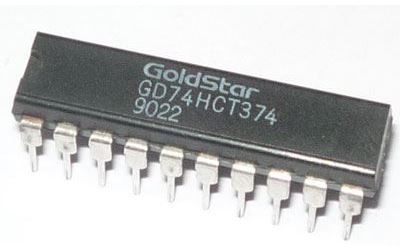 74HCT374 - 8x klopný obvod D s nulováním, DIL20 /GD74LS374/