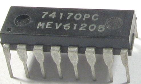 74170 - 16-bit.registr RAM 16bit, DIL16 /74170PC/