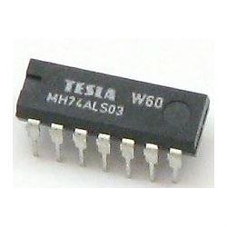74ALS03 4x 2vstup NAND /MH74ALS03,MH54ALS03/, DIL14 /7403/