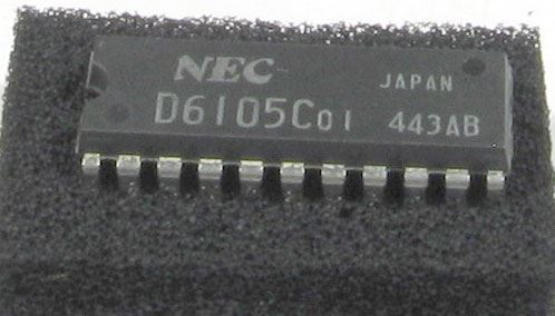 D6105C - zobrazovač CMOS, NEC /UPD6105C/