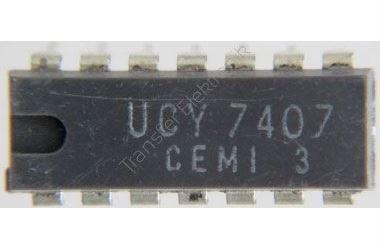 7407 6x budič s otevřeným kolektorem, DIL14 /UCY7407/