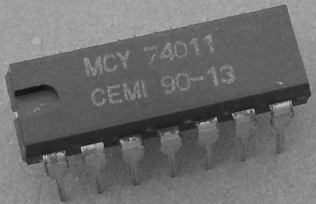 4011 - 4x 2vstup NAND /MCY74011/, DIL14