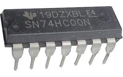 74HC00N 4x 2vstup NAND , DIL14 /7400/