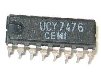 7476 - 2x kl.obvod J-K s nulováním, DIL16 /UCY7476,CDB476E/