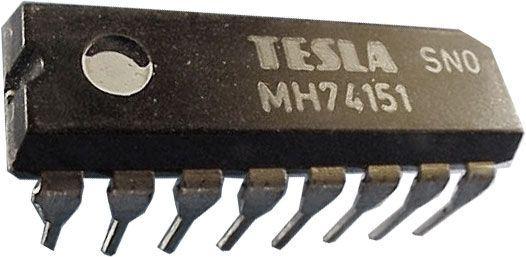 74151 8-bit.multiplexer, selektor dat DIP16 /MH74151,MH54151 vč.S/