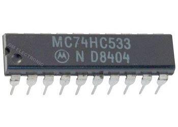 74HC533 - 8x invertor, DIL20 /KS74HCTLS533N/