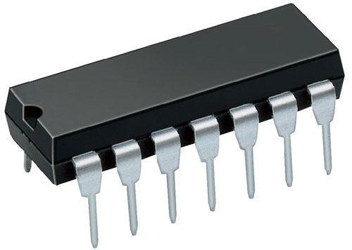 74HC125 - 4x neinvertující třístavový budič sběrnice, DIL14 /74125/