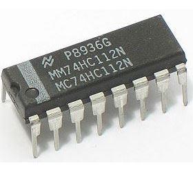74HC112 - 2x klopný obvod J-K, DIL16 /74112/